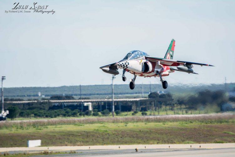 FAP Alpha Jet wearing the Asas de Portugal Livery