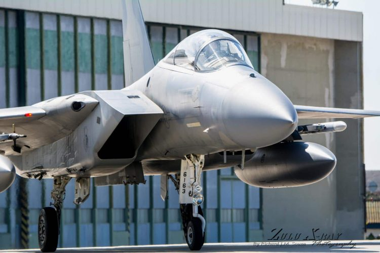 Lakenheath F-15 coming in affter the morning run