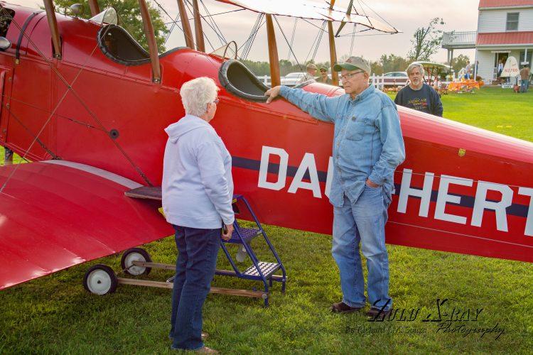 Mr. & Mrs. VanBortel Chat Before The Special Flight