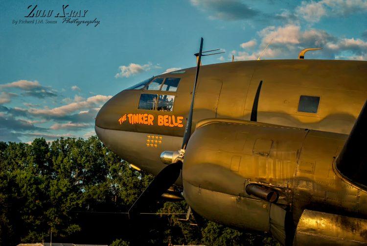 "Curtis C-46 Commando ""Tinker Belle"" basking in the morning sun"